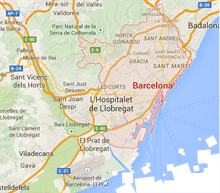 Short stay Barcelona apartments map search