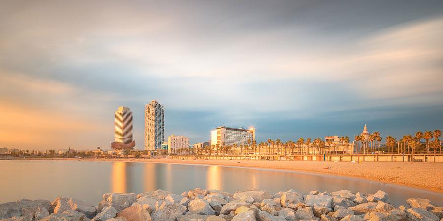 Beautiful Barcelona beach, Barcelona beaches
