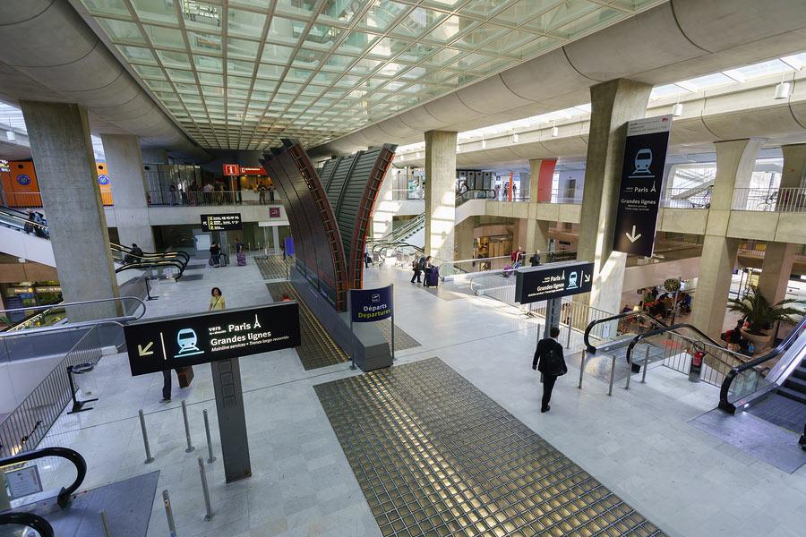 Charles de Gaulle Airport interior, Paris, France