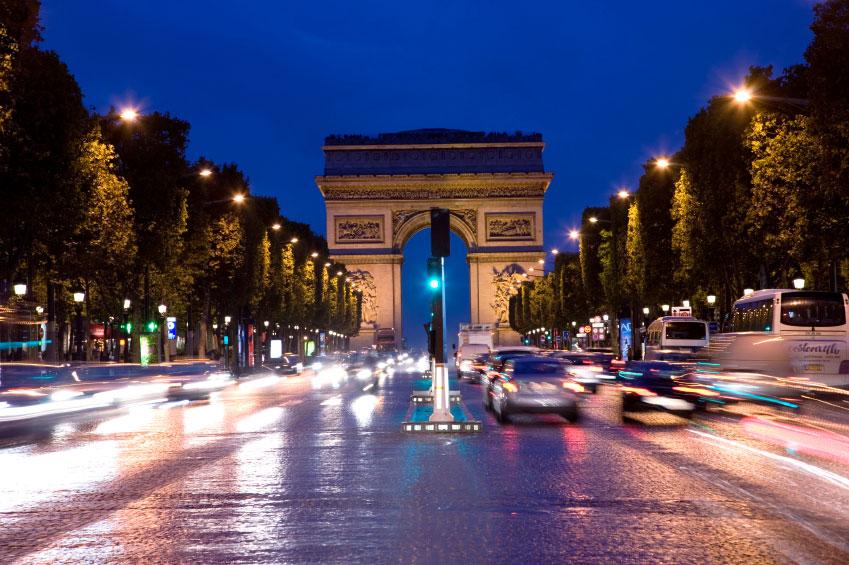 Arc de Triomphe, Champs-Elysees, Paris, France