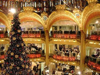 Beautiful Christmas tree, Paris
