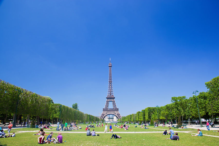Eiffel Tower in summer, Paris