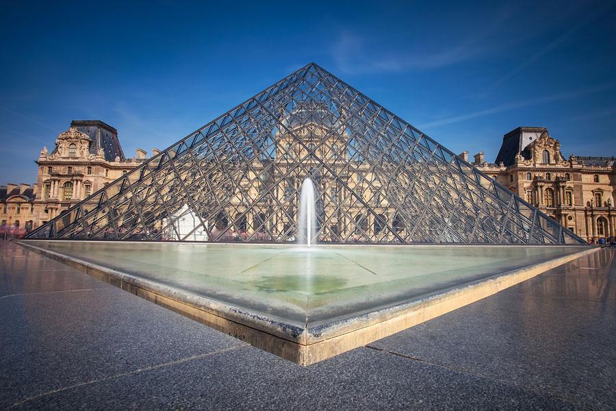 The Louvre, Pyramid, Paris