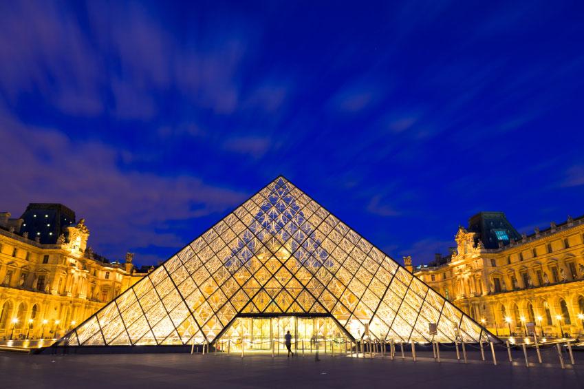 Louvre by night, Paris