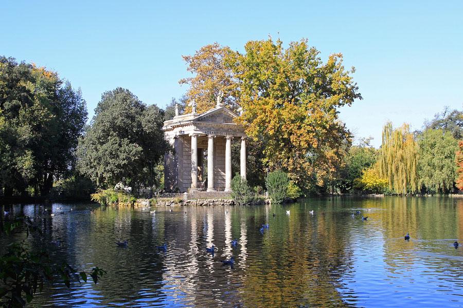 Rome_Aesculapius-Temple, Villa Borghese area Rome