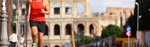 Rome marathon Colosseum
