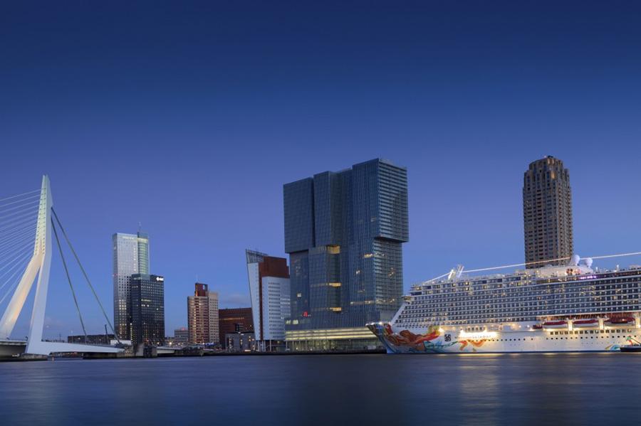 Beautiful view of Rotterdam