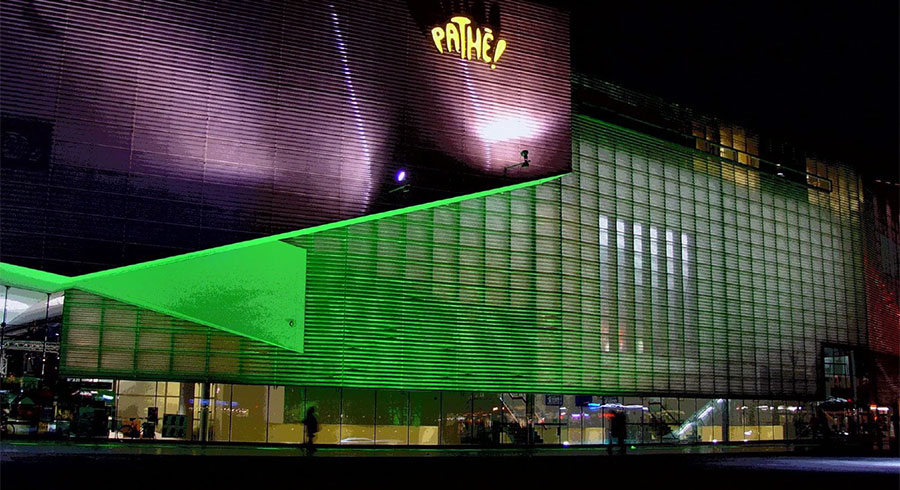 Pathe Schouwburgplein, Rotterdam at night