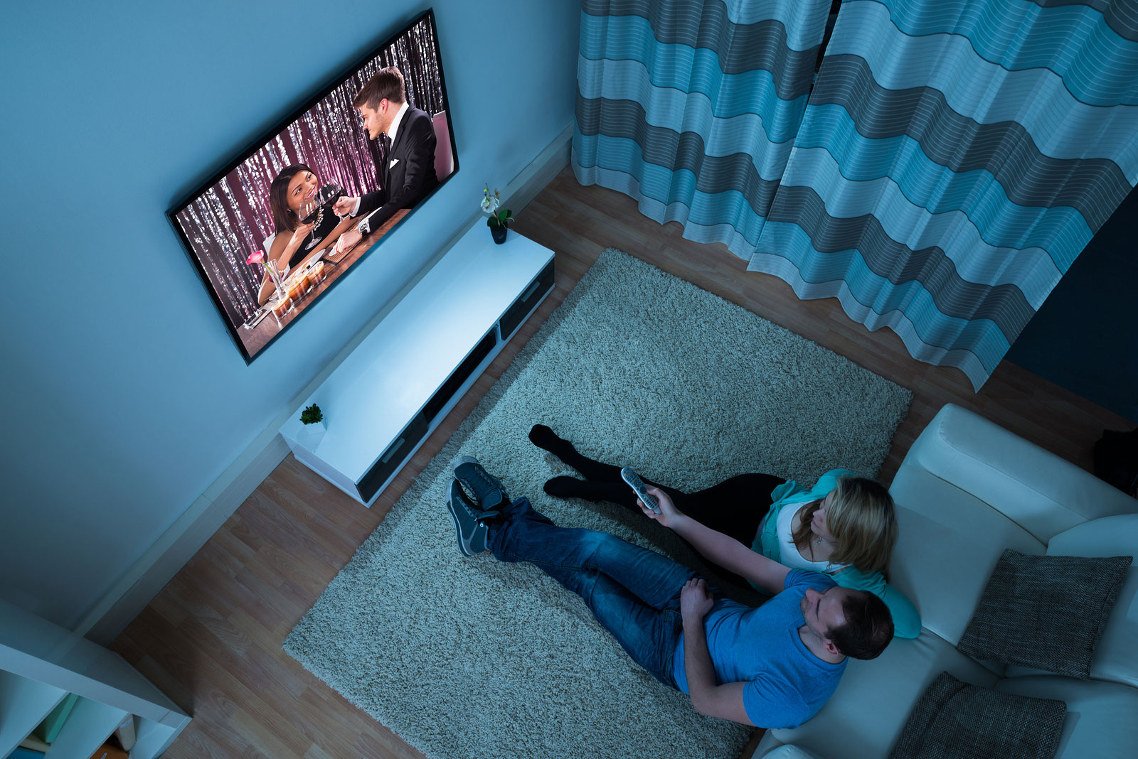 Watching movies in your short stay apartment